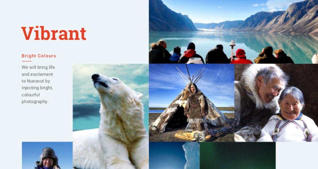 Nunavut Tourism Visual Style
